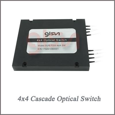 供应光开关 光开关厂家GLSUN 桂林光隆 4x4级联光开关 光开关模块 机械光开关