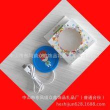 PVC软胶USB发热杯垫防滑动漫卡通圆形加热杯垫 厂家定做批发