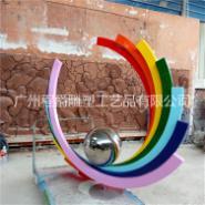玻璃钢彩虹雕塑图片