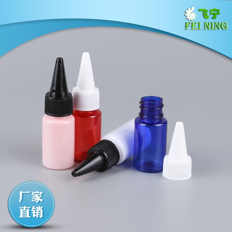 10ml尖嘴瓶 新款10ml毫升七彩透明尖嘴瓶 密封不漏液塑料