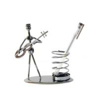 创意复古金属学生礼物笔筒摆件弹簧笔插桌面摆件铁艺工艺品毕业礼 弹簧摆件
