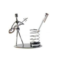 创意复古金属学生礼物笔筒摆件弹簧笔插桌面摆件铁艺工艺品毕业礼 弹簧摆件批发