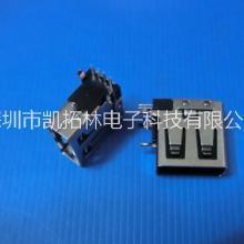 USB A母侧插14.0短体9O型直脚无卷边