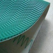 墨绿色波浪花纹防滑爬坡带输送带图片
