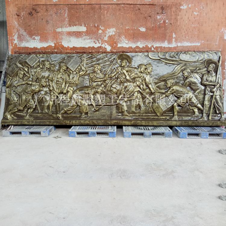 玻璃钢文化浮雕雕塑图片