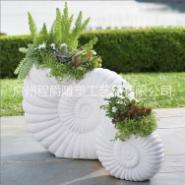 玻璃钢海螺海贝种植花钵图片
