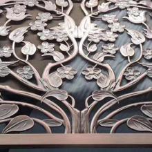 豪华精美铝雕屏风 客厅家具铝屏风 厂家批发