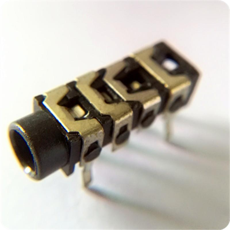 PJ-313B 耳机插座 深圳厂家直销3.5插件4级耳机插座 多级音频连接器