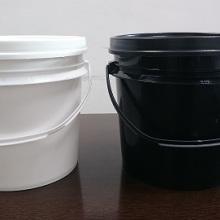 厂家直销0.5L塑胶黑白油塑料罐 香精香料样品罐批发