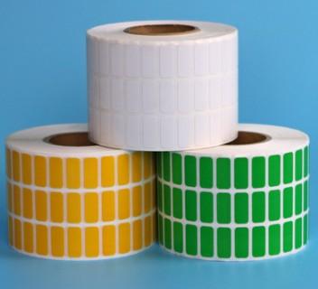 可手写彩色标签纸 供应铜板纸染色标签 彩色不干胶贴纸生产厂家 铜版纸不干胶 空白条码纸