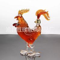 12生肖玻璃空酒瓶公鸡造型玻璃瓶