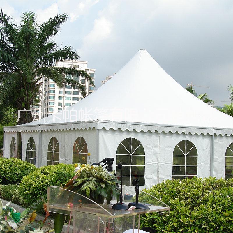 厂家提供欧式铝合金尖顶篷出租 清远户外活动广告帐篷定制租赁