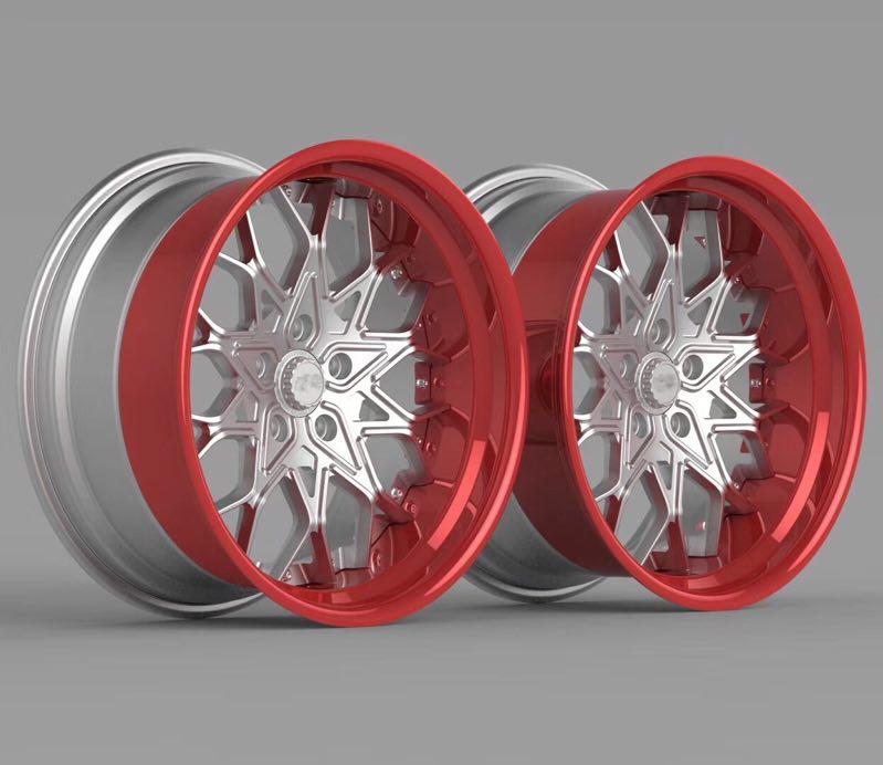 改装铝合金锻造三片式轮毂 南昌改装铝合金锻造三片式轮毂