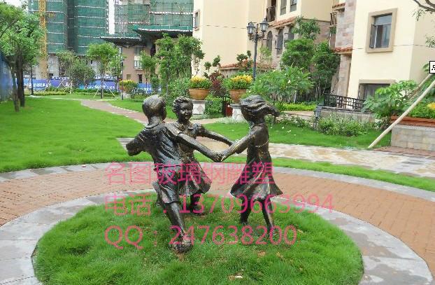 供应小孩玩耍雕塑·玻璃钢人物雕塑·公园景观摆件 玻璃钢人物雕塑 小孩玩耍雕塑
