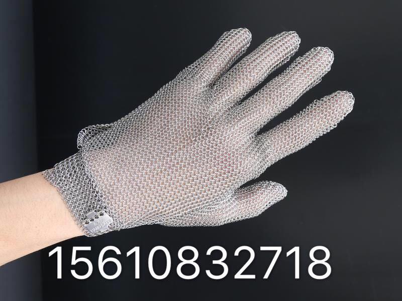厂家直销五指防割不锈钢钢丝手套