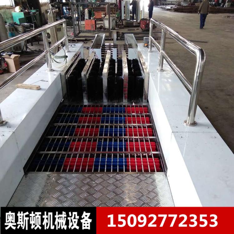 奥斯顿单通道矿用雨鞋清洁器 自扫式多功能工厂洗靴机