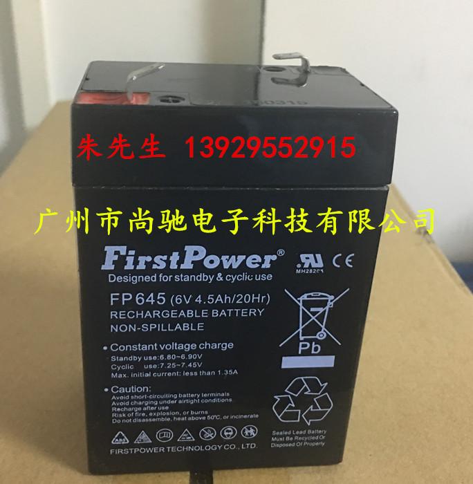 供应FirstPower一电蓄电池FP645 6V4.5A玩具车电瓶