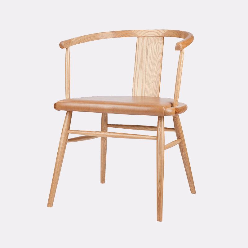简约实木餐椅原木椅北欧靠背椅