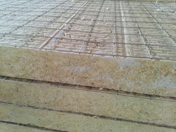 外墙双面钢网憎水岩棉板 单面钢网岩棉板图片