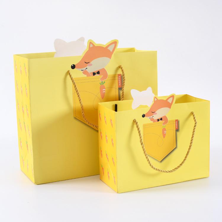 手提袋纸袋服装袋子定制印刷logo高档简约韩版小清新礼品袋