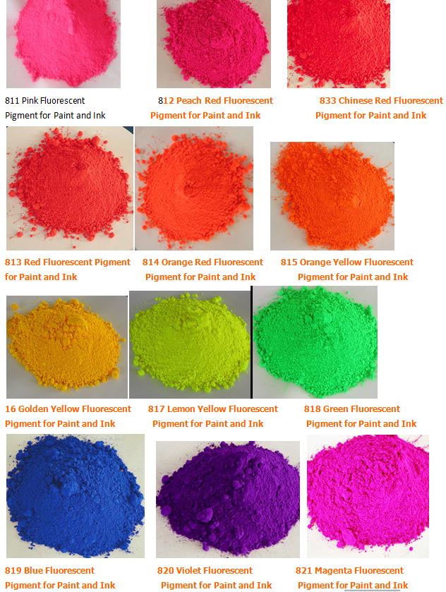 供应耐溶剂耐高温系列荧光颜料(粉红桃红大红玫瑰红橙