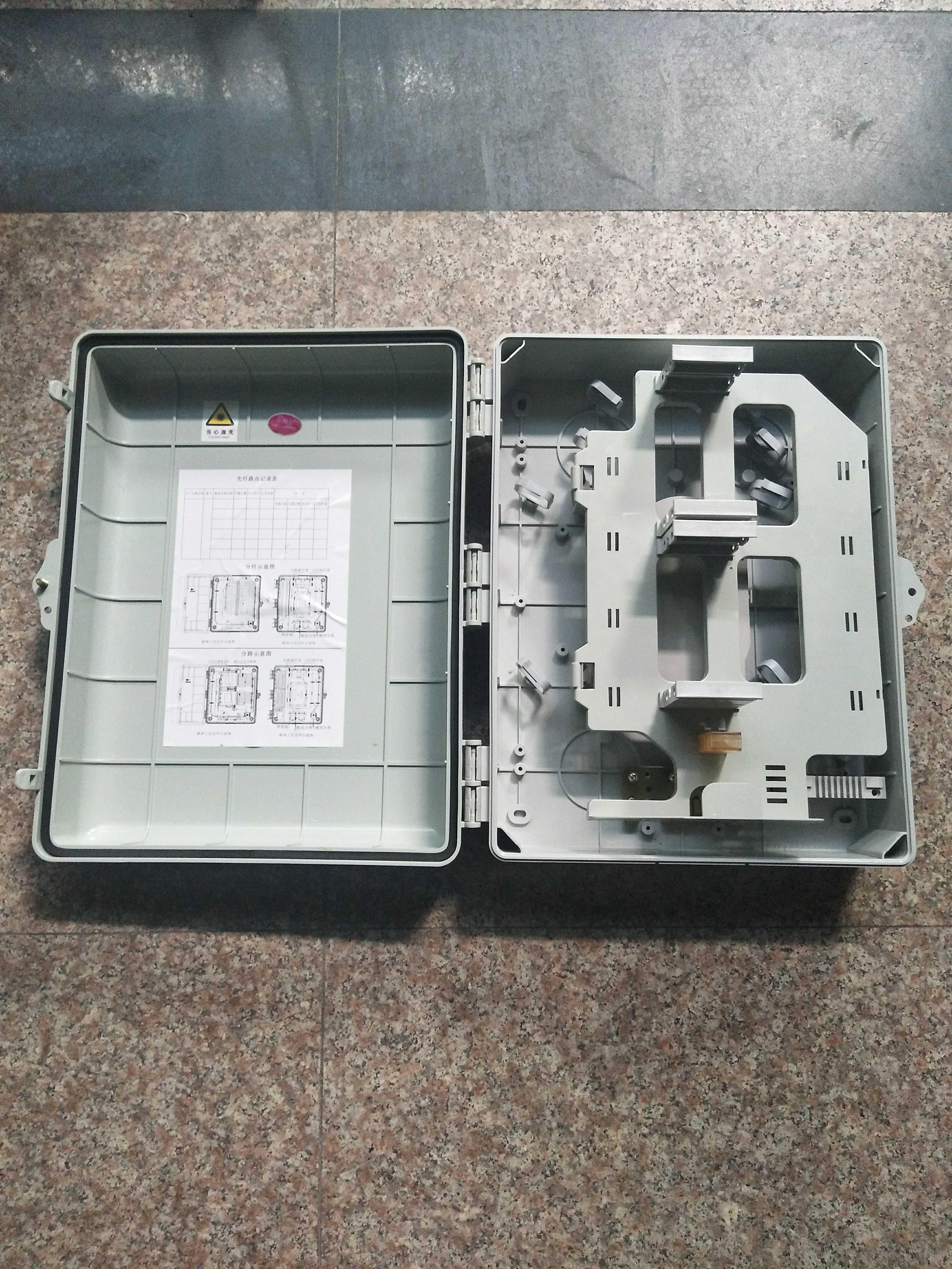 48芯光纤分线箱 1分32插片式分光分路器箱 32光纤分纤箱