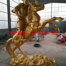 三米高骑马关公铜佛像 重庆铜雕塑