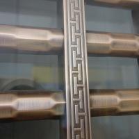 九棵松玻璃不锈钢复合门,智能指纹密码锁大门
