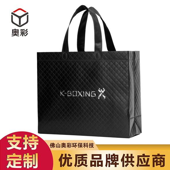 厂家直销奥彩覆膜环保袋定做劲霸男装logo购物广告立体袋无纺布袋