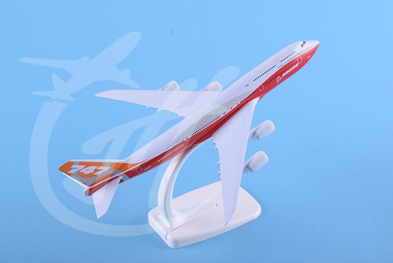 20cm金属飞机模型B747-8