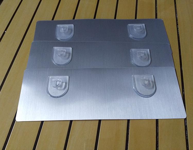 置物架无痕粘贴卡扣D型U型卡扣式挂钩强力承重可移透明防水