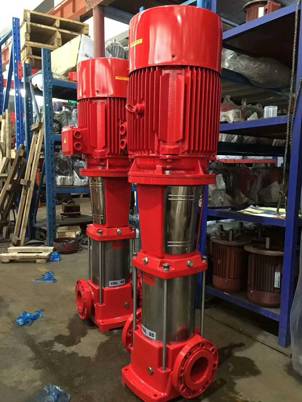 恒压给水设备 消防水泵安装XBD11.0/30-100L立式消防泵供应