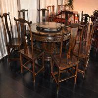 智业古典家具八座大餐桌保持质量