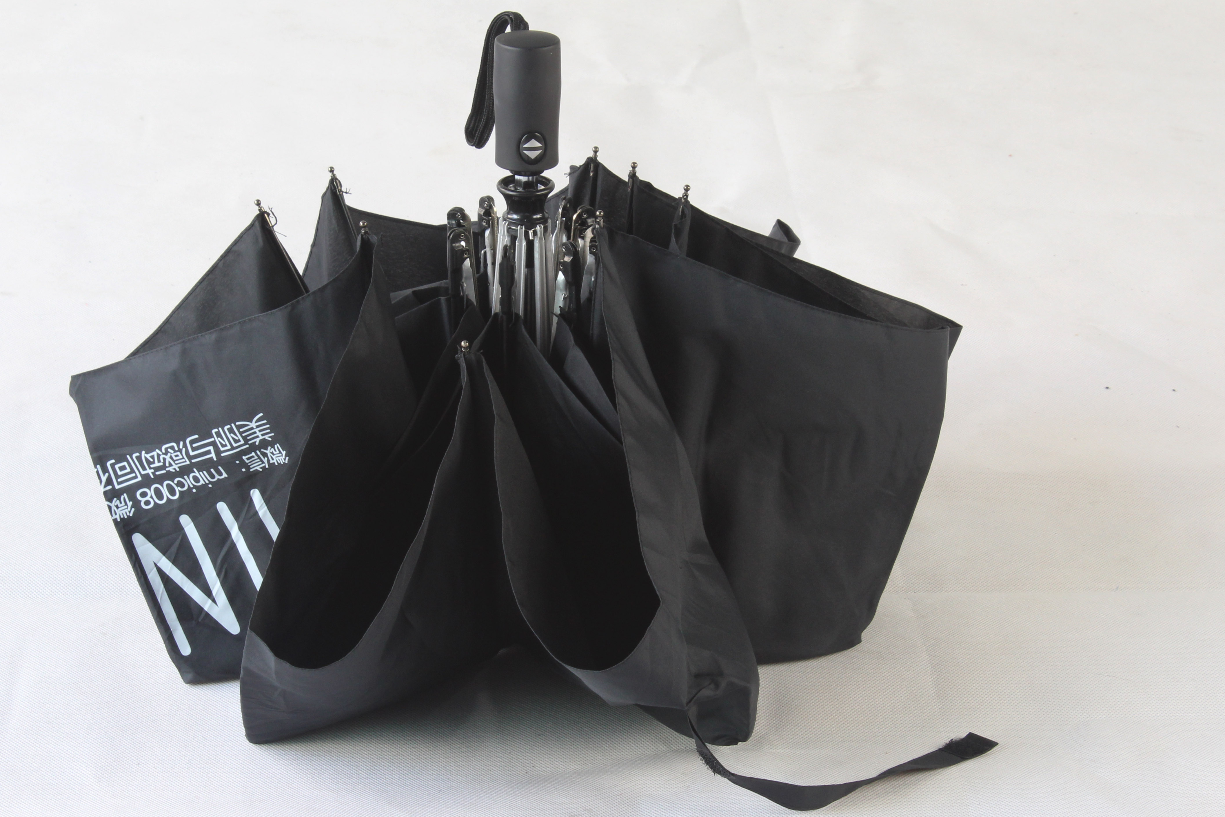 厂家生产三折自动开收伞 超大商务伞定制 可定制企业LOGO