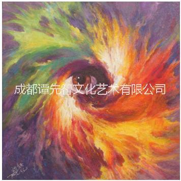 古蜀文化系列绘画作品《上帝之眼》