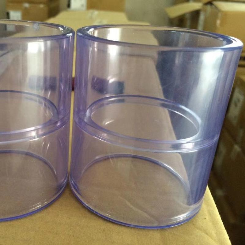 工厂直销  CLEAR-PVC 硬质  透明PVC直接头  化工外套管使用