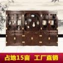 办公家具书柜三组合东阳木雕厂家图片