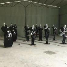 玻璃钢民间人物乐队团雕塑
