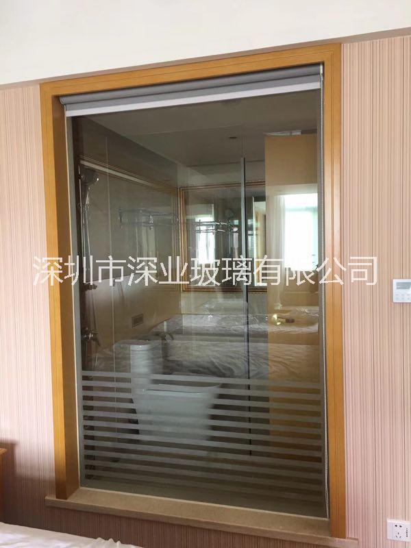 深圳白玻钢化玻璃线条砂 淋浴间玻璃 景观窗 白玻钢化线条砂 加工工艺 玻璃线条砂