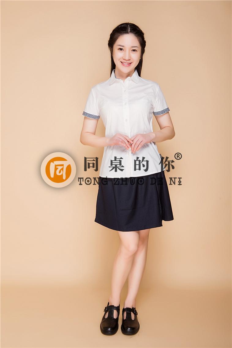 学生装定制厂家,江苏圣澜17年专注校服领域 夏季新款正装校园中国风XZ001