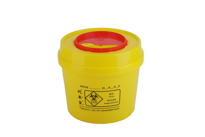 医用利器盒锐器盒垃圾桶 医用利器盒1升