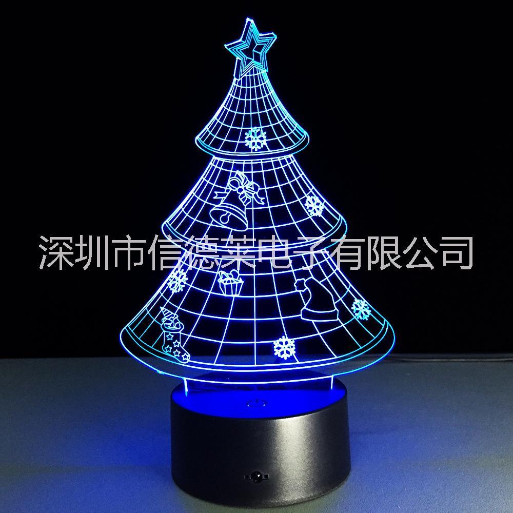 信德莱3D小夜灯可定制造型 圣诞节万圣节礼品3D小夜灯厂家