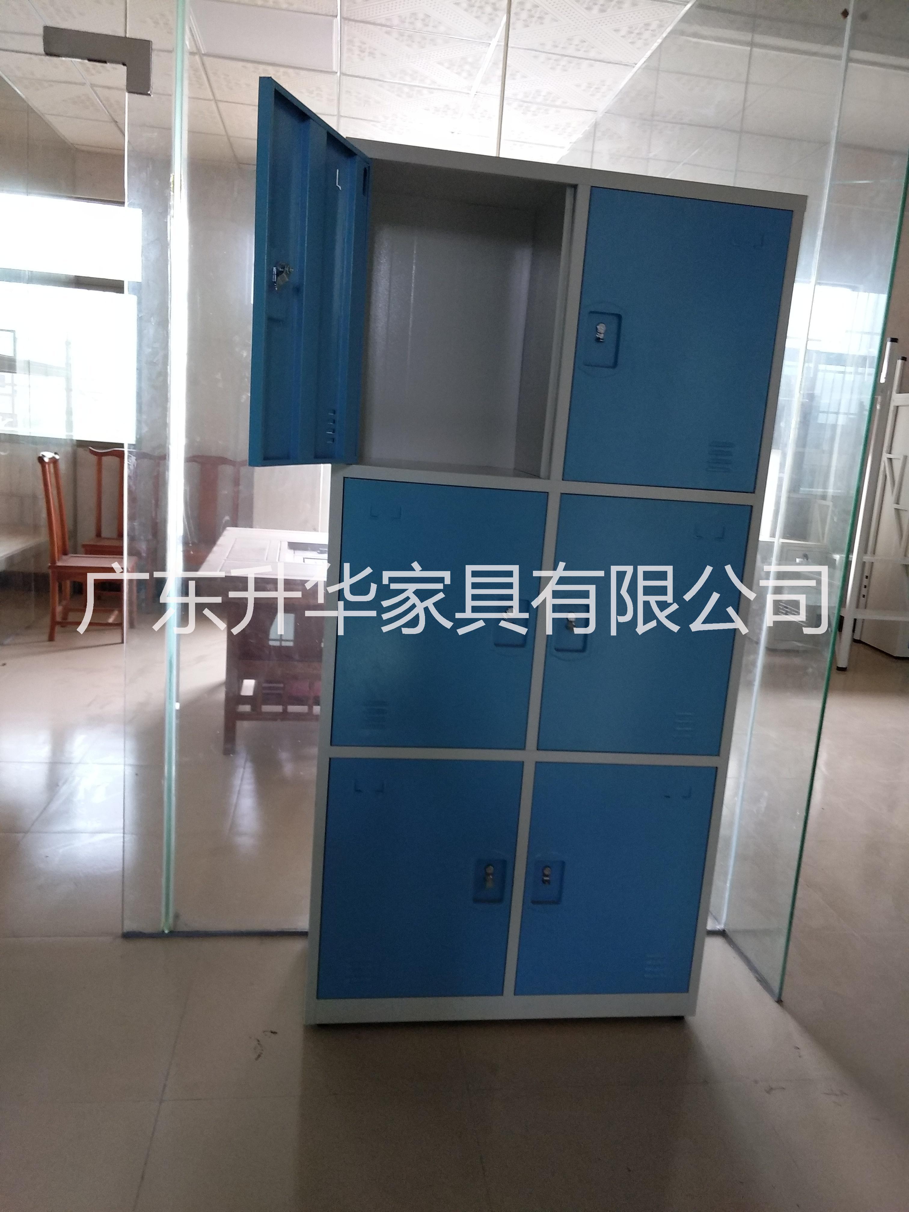 东莞铁柜生产厂家广东铁柜厂 六6门储物柜员工衣柜宿舍衣柜