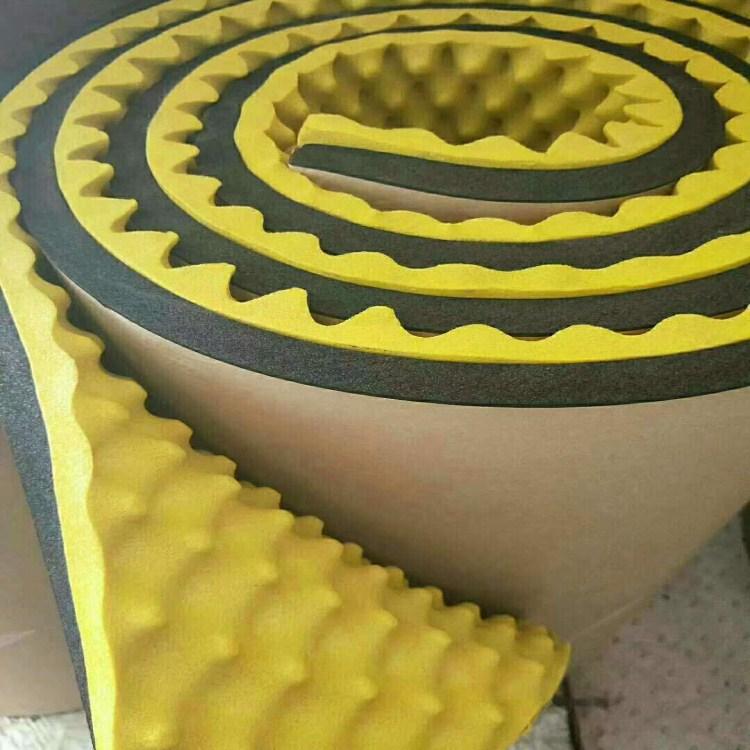 橡塑蛋壳棉、阻燃型10mm波峰海绵、5*5压花铝箔橡塑板、墙体吸音板生产厂家货源充足量大从优