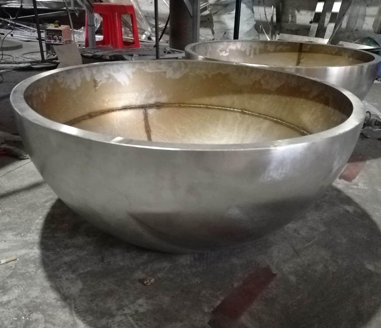 不锈钢异形花盆 表面拉丝碗形不锈钢花盆