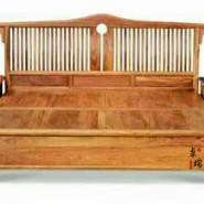 红木家具新中式床 床头柜组合图片