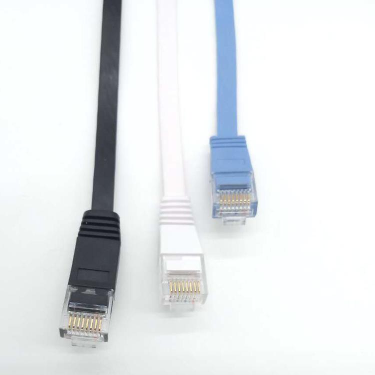 现货供应1米黑色cat6千兆扁平网线无氧铜过测试网络跳线