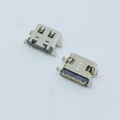 USB3.1 TYPE-C母座16pin沉板0.8有弹尾铆