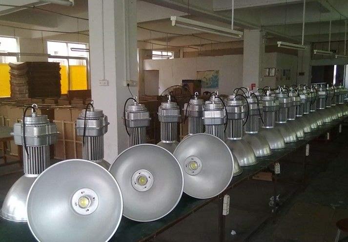江门150w吊链工矿灯 10米高棚高亮聚光投射灯 厂区室内照明灯饰