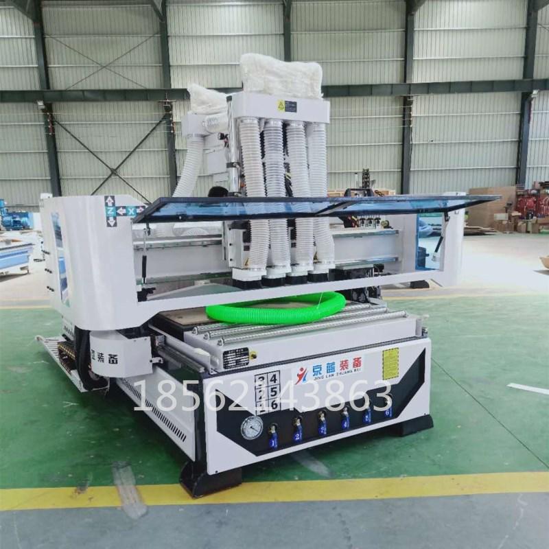 板式家具开料机1325四工序数控雕刻机柜体门板开料下料机木工板材 木工板材下料机
